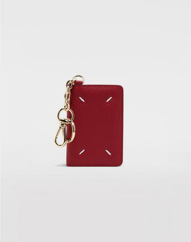 Small Leather Goods  Leather keyring wallet Red