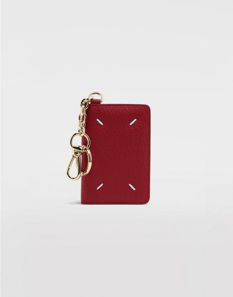 MAISON MARGIELA Leather keyring wallet Wallet Woman r