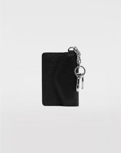 ACCESSORIES Leather keyring wallet Black