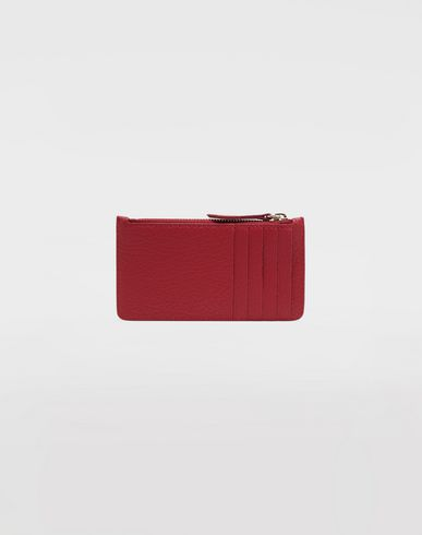 ACCESSORIES Leather card-holder wallet Red