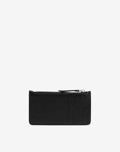 ACCESSORIES Leather card-holder wallet Black