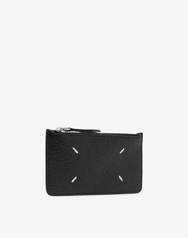 Small Leather Goods  Leather card-holder wallet Black