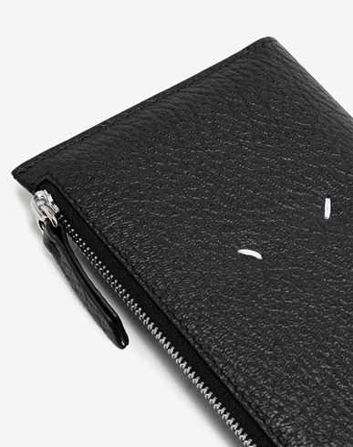 ACCESSORIES Leather zip-edge wallet Black