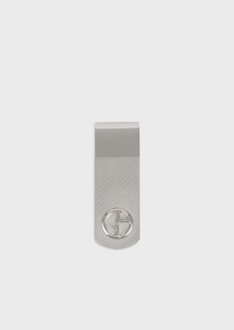 Geldschein-Clip aus Silber mit Logo-Gravur