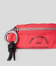 KARL LAGERFELD Rue St Guillaume Belt Bag Keychain Key Chain E l