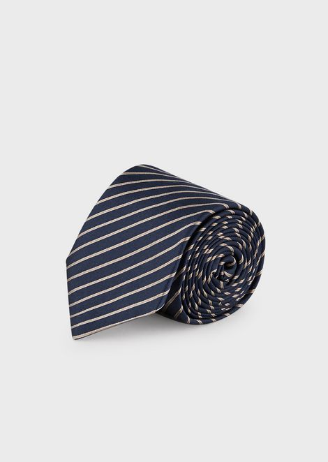 9db82e88345e Silk tie with regimental pattern