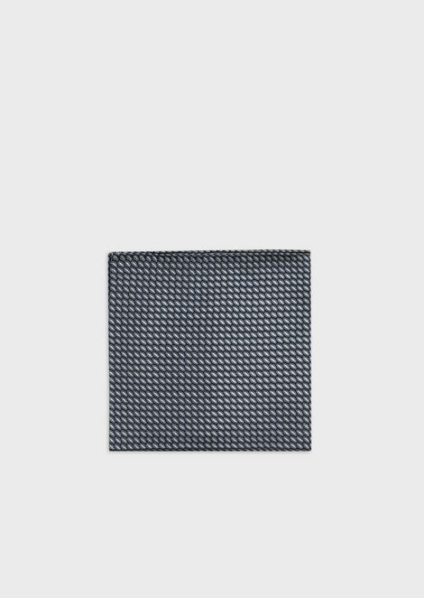 Pure silk jacquard optical-effect pocket square