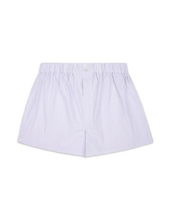 White and Pink Boxer Shorts.
