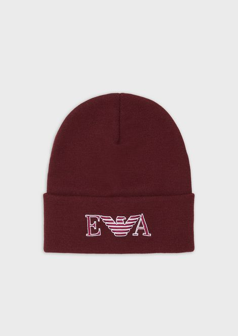 Beret with embroidered logo