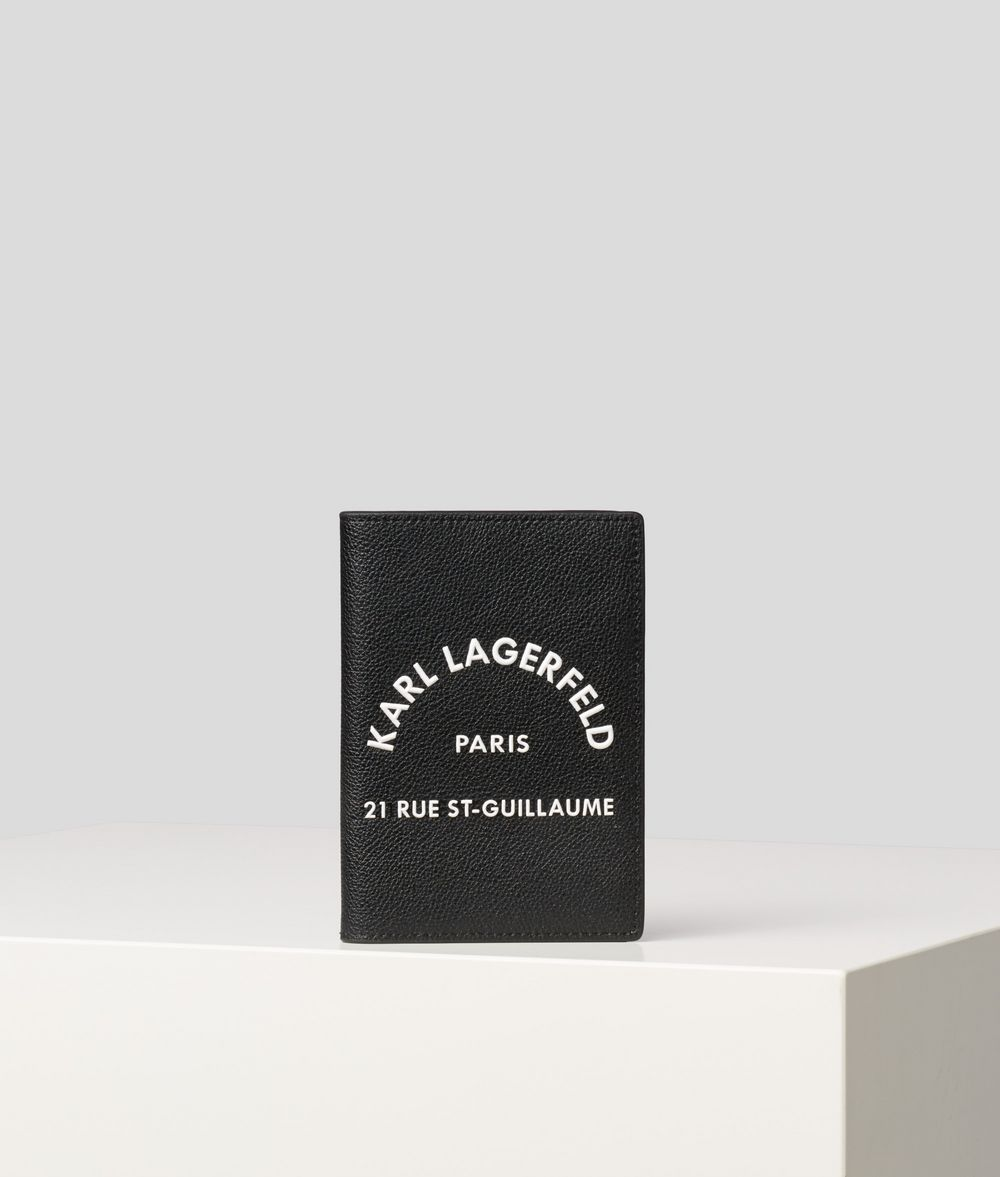 KARL LAGERFELD Rue St Guillaume Passport Cover Cardholder Man f