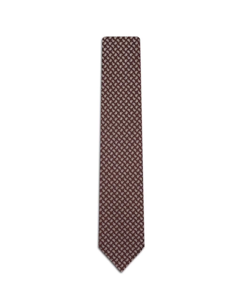 BRIONI Bordeuax Micro Paisley Tie. Tie Man f