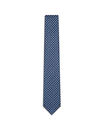 Blue Micro Paisley Tie