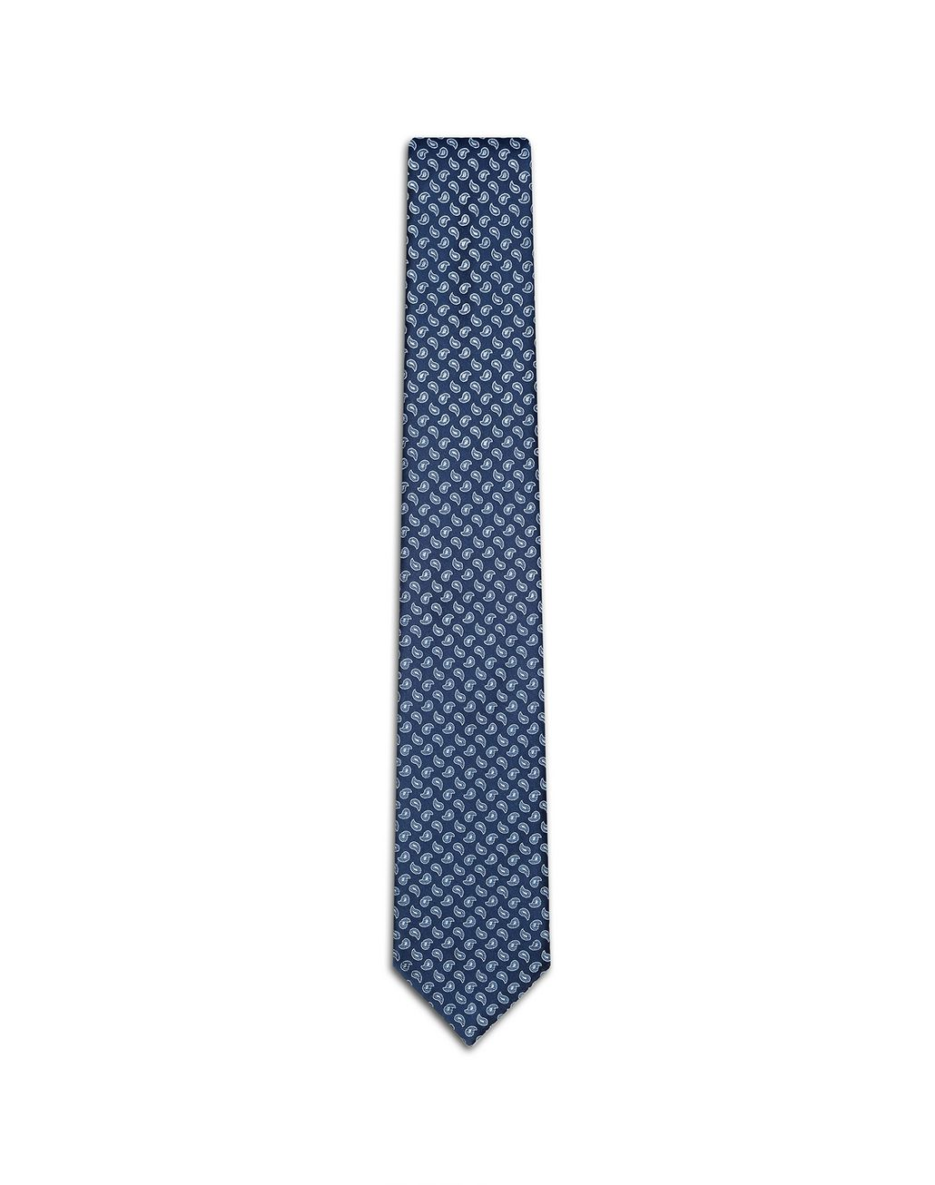 BRIONI Blue Micro Paisley Tie. Tie Man f