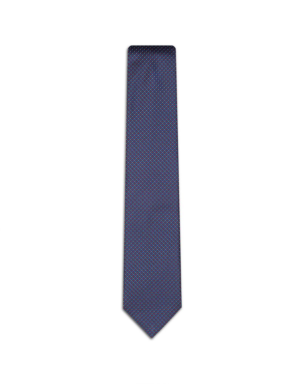 BRIONI Blue Micro Designed Tie. Tie Man f