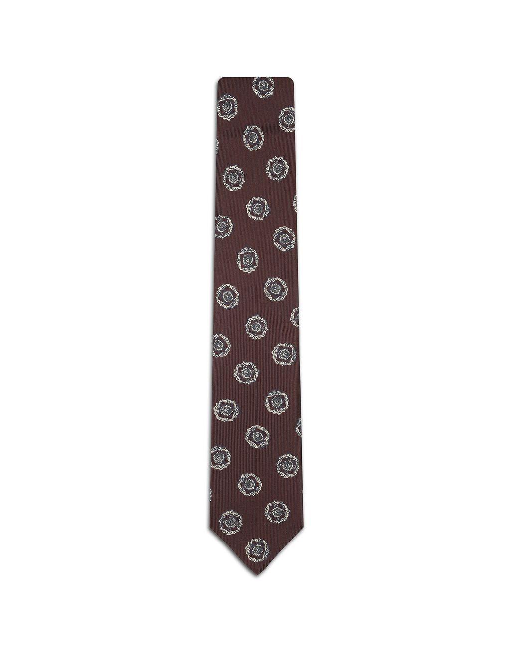 BRIONI Bordeaux Macro Designed Tie. Tie Man f