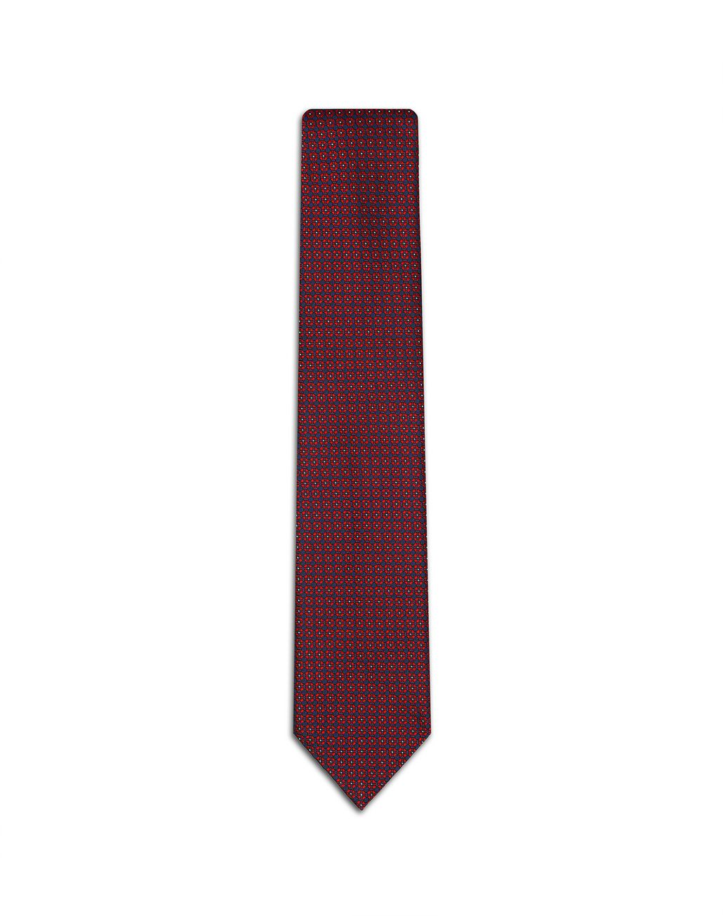 BRIONI Red Micro Designed Tie. Tie Man f