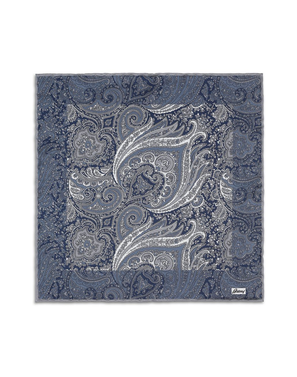 BRIONI Blue Pocket Square. Pocket Square Man f