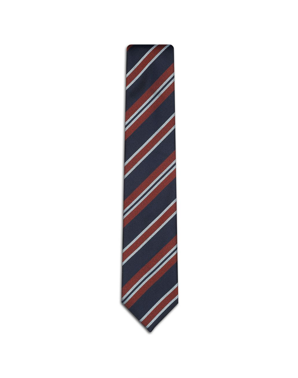 BRIONI Blue Regimental Tie Tie Man f