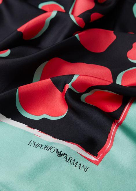 ピュアシルク製ヘッドスカーフ コーニスモチーフ