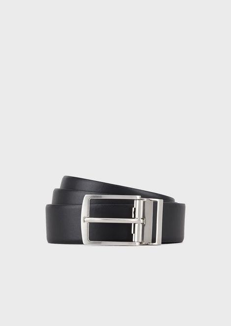 Coffret cadeau composé d'une ceinture en cuir réversible avec deux boucles interchangeables