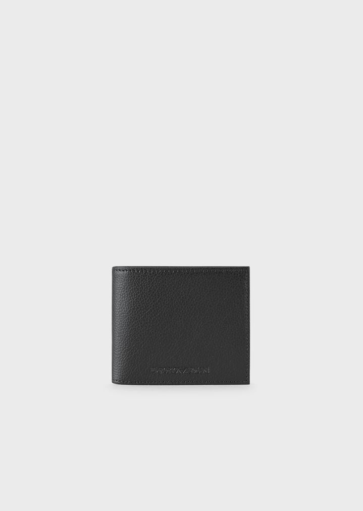 640e00dcd0 Wallet in tumbled leather with Emporio Armani logo