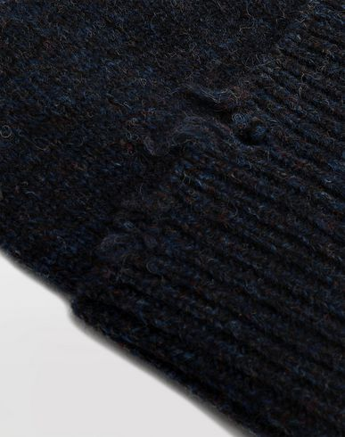 ACCESSORIES Destroyed wool beanie Blue