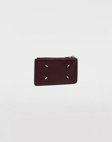 ACCESSORIES Leather zip wallet Maroon