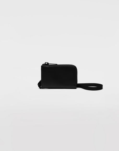 MAISON MARGIELA Leather wallet with strap Wallets Man f