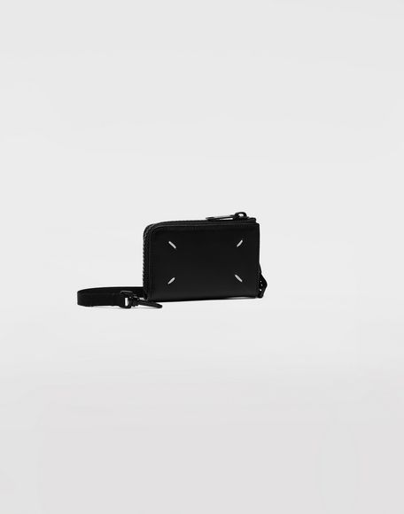 MAISON MARGIELA Leather wallet with strap Wallet Man r