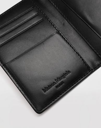 ACCESSORIES Leather fold-over wallet Black