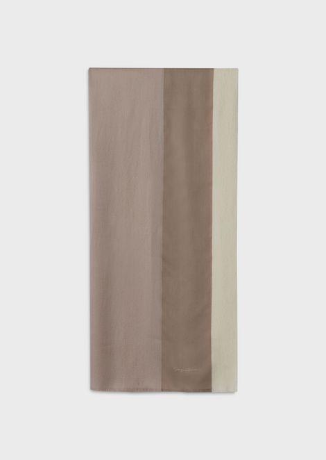 Квадратный платок из ткани с эффектом деграде