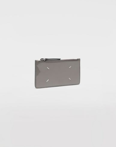 ACCESSORIES Patent leather card-holder Grey