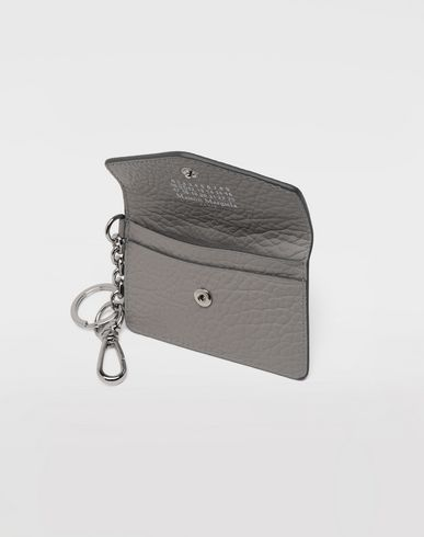 Small Leather Goods  Leather keyring wallet Grey