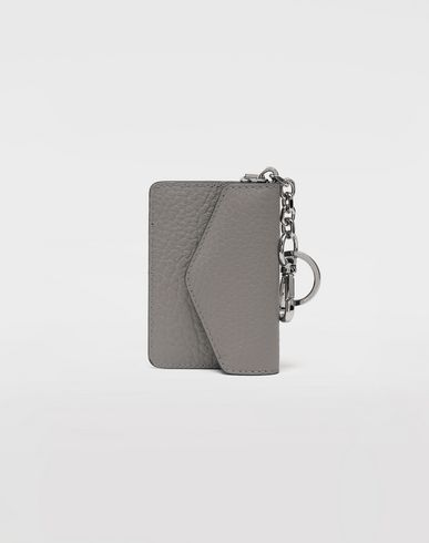 ACCESSORIES Leather keyring wallet Grey