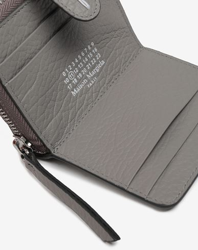 ACCESSORIES Leather zip-around wallet Grey