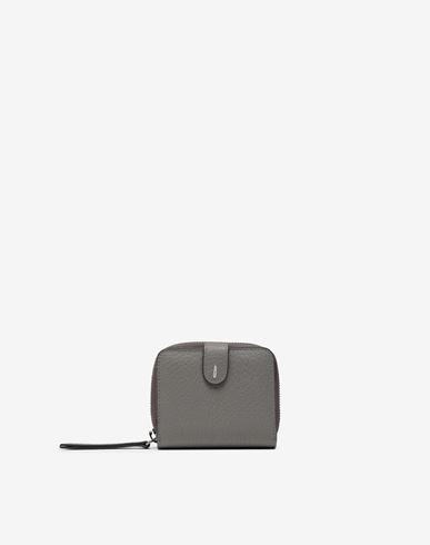 Small Leather Goods  Leather zip-around wallet Grey
