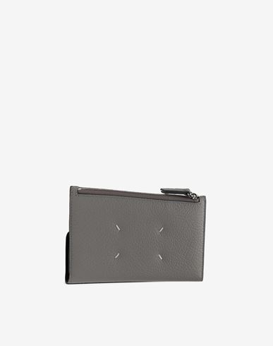 ACCESSORIES Leather zip-edge wallet Grey