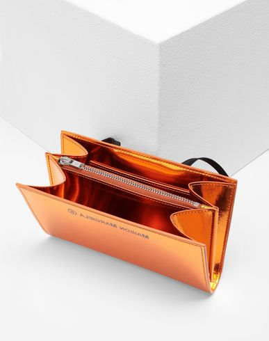 Small Leather Goods Metallic clutch Rust