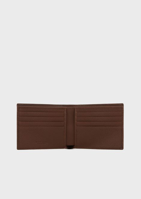 Full-grain leather wallet and card holder set