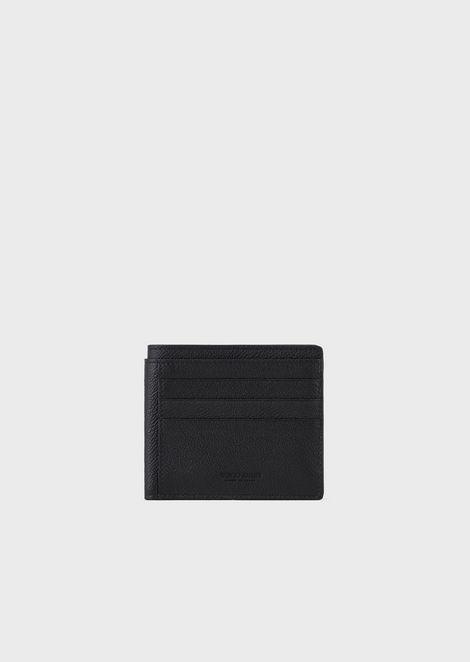 Full-grain leather bifold card holder