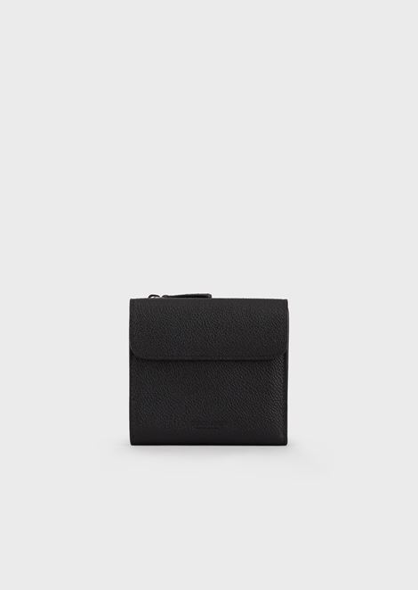 Full-grain leather bifold wallet