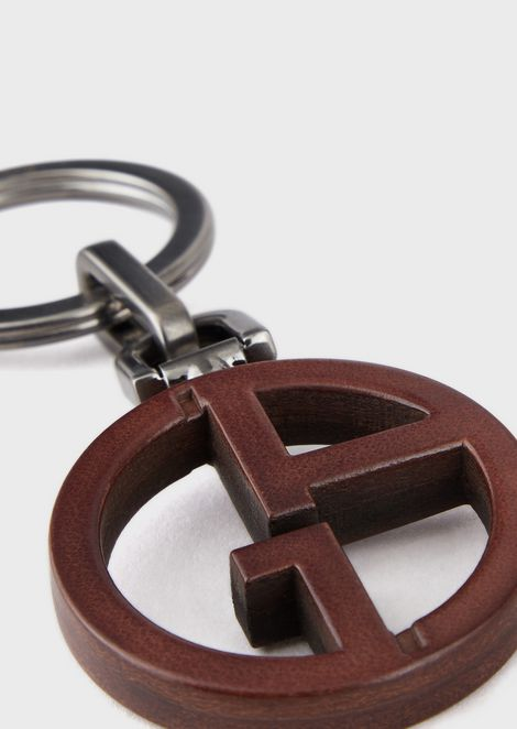Keyring with leather GA logo