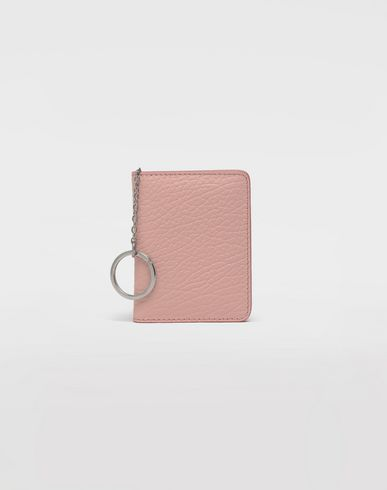 ACCESSORIES Leather keyring small wallet Pink
