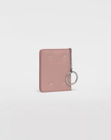 Small Leather Goods  Leather keyring small wallet Pink