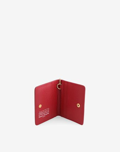 Small Leather Goods  Leather keyring small wallet Red