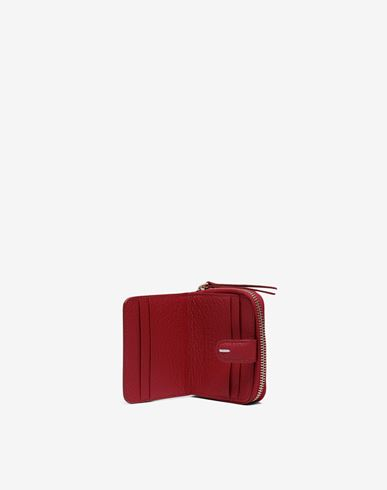 Small Leather Goods  Leather zip-around wallet Red