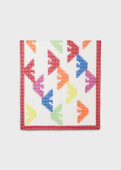 Étole en tissu imprimé pixel aigles