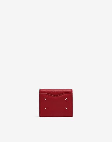 Small Leather Goods  Envelope leather wallet Red