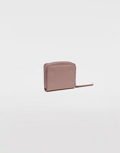 ACCESSORIES Leather zip-around wallet Pink