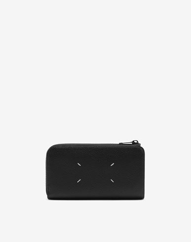 ACCESSORIES Large zip-around wallet Black